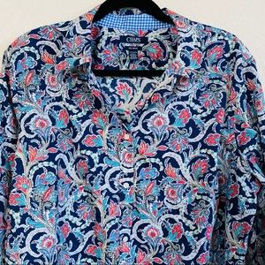 Chaps No Iron Paisley Button Down Shirt Sz 2X